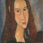 Portrait of Jeanne Hebuterne by Maledetto Modigliani